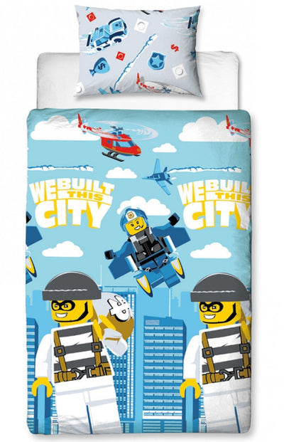 LEGO ~ 'On The Run' Single Bed Quilt Cover Set