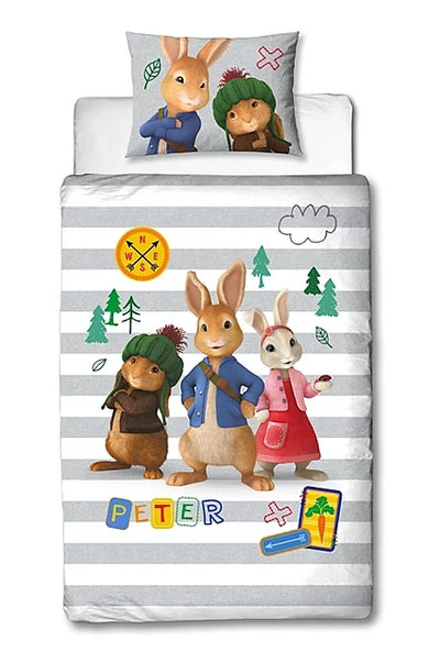 PETER RABBIT ~ 'Forest' Single Bed Panel Quilt Cover Set