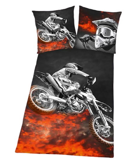 MOTORBIKE ~ Single Bed Quilt Cover Set