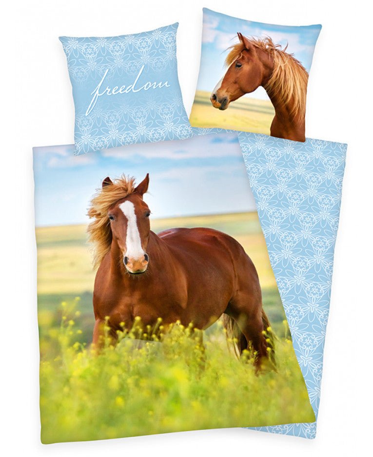 FREEDOM HORSE ~ Single Bed Quilt Cover Set
