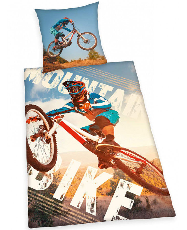 MOUNTAIN BIKE ~ Single Bed Quilt Cover Set