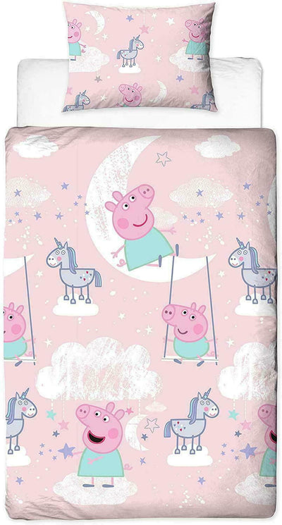 PEPPA PIG ~ 'Stardust' Single Bed Reversible Quilt Set