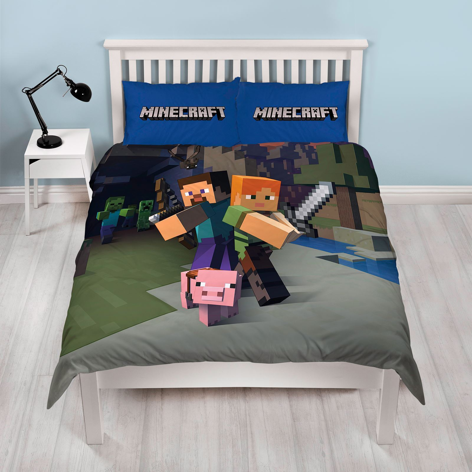 MINECRAFT ~ 'Goodguys' Double/Queen Bed Quilt Cover Set