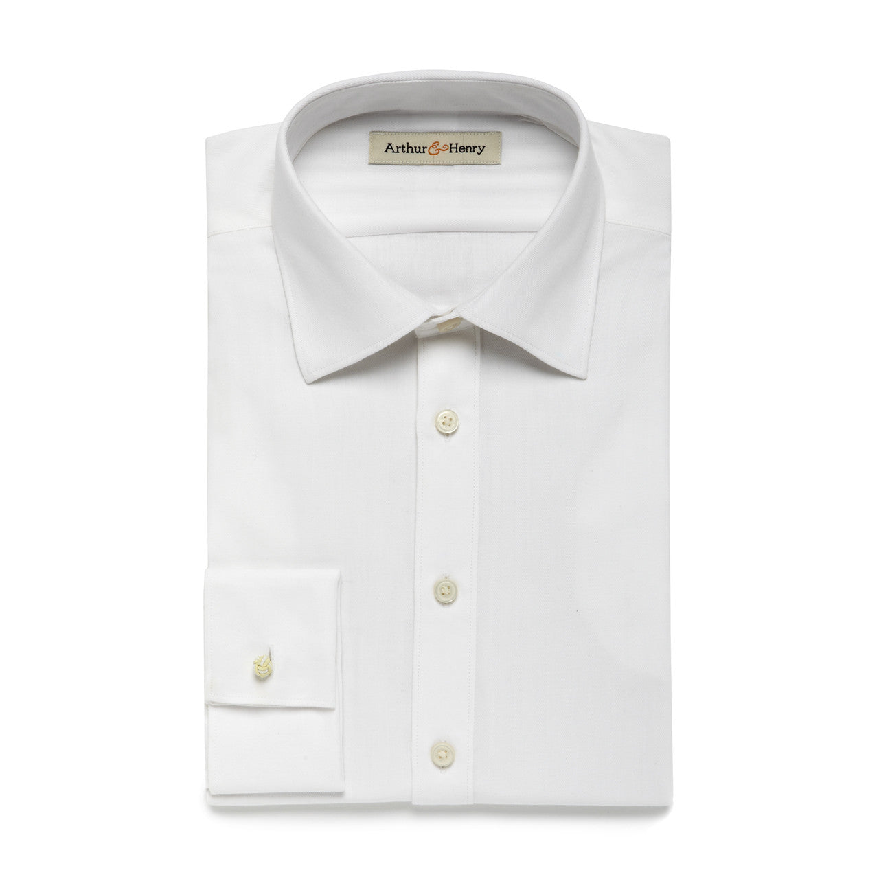 White organic cotton formal men's shirt
