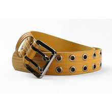 Load image into Gallery viewer, Big Yellow fire-hose belt Elvis & Kresse ethical menswear