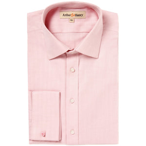 SALE: Pink Herringbone Men's Organic Shirt