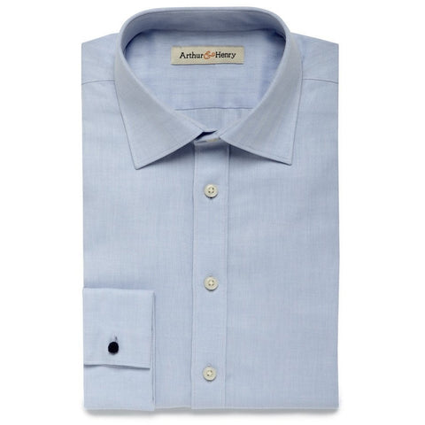 SALE: Blue Men's Organic Herringbone Shirt