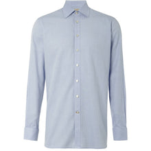 Load image into Gallery viewer, blue herringbone men's organic shirt