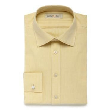 Yellow Herringbone Shirt