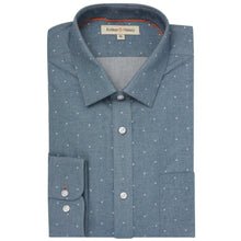 Load image into Gallery viewer, Mid Blue Spot Organic Cotton Shirt