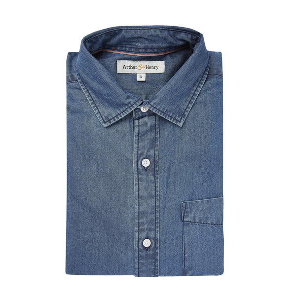 Indigo-Dyed Organic Cotton Shirt