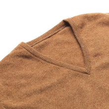 Load image into Gallery viewer, Lambswool V-Neck Jumper - Camel