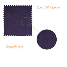 Load image into Gallery viewer, Shakespeare Dark Navy Linen