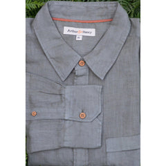 Burnt Olive Men's Linen Shirt
