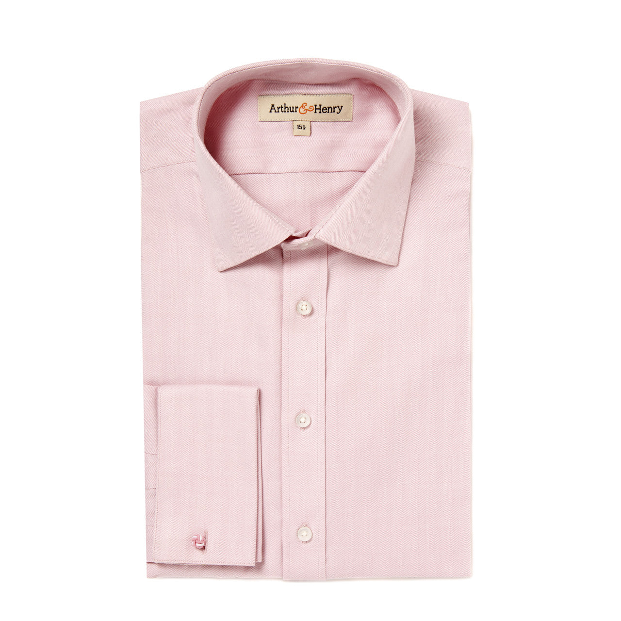 Pink Herringbone Men's Organic Shirt