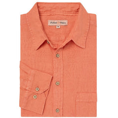 Sherbert Orange Linen Shirt