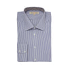 Blue Stripe Organic Cotton Shirt With Trim