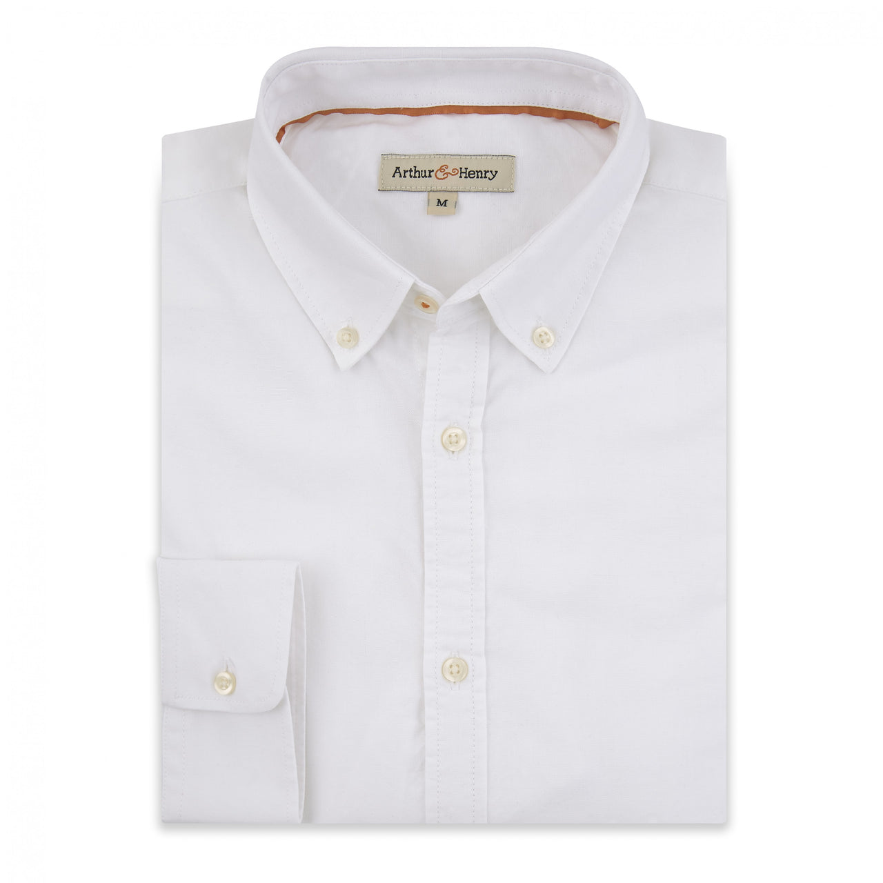 White Oxford Men's Shirt with button-down collar. Fairtrade and organic cotton.