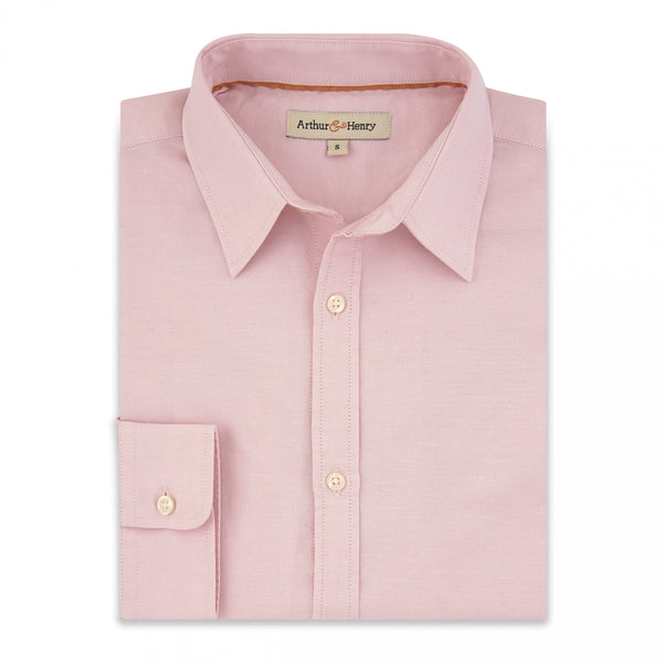 Pink Men's Oxford Shirt. Fairtrade Organic Cotton.
