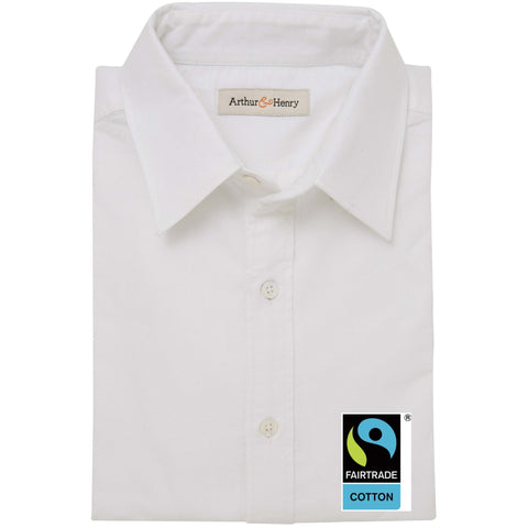 SALE: White Men's Fairtrade Organic Oxford Shirt
