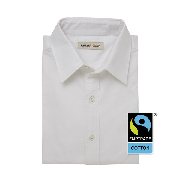 White Men's Fairtrade Organic Oxford Shirt