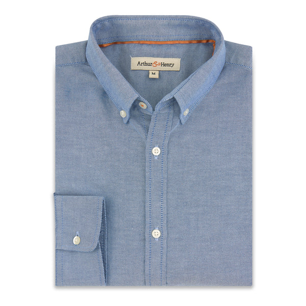 Button-Down Collar Blue Fairtrade Organic Oxford Shirt