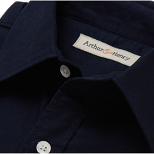 Load image into Gallery viewer, Navy Fairtrade Men's Oxford  Shirt