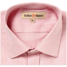 Load image into Gallery viewer, SALE: Pink Herringbone Men's Organic Shirt