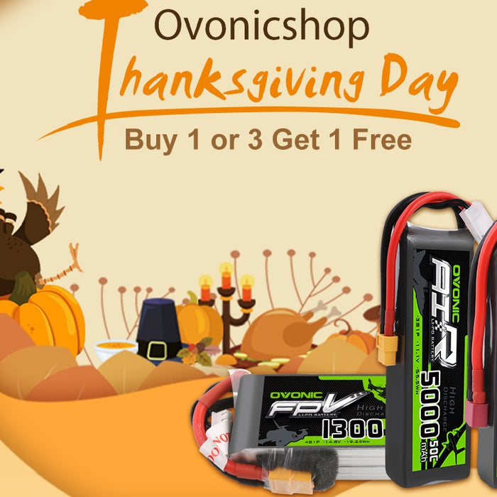 Ovonicshop Thanksgiving day 2019 LiPo battery deals
