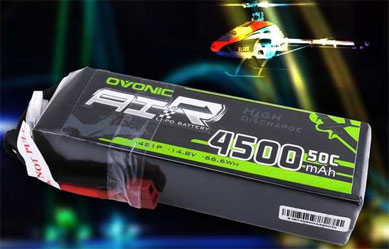 14.8V 50C 4S 4500mAh LiPo Battery Pack