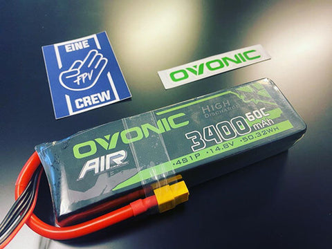 ovonic 3300mah 4s lipo battery for Aircraft