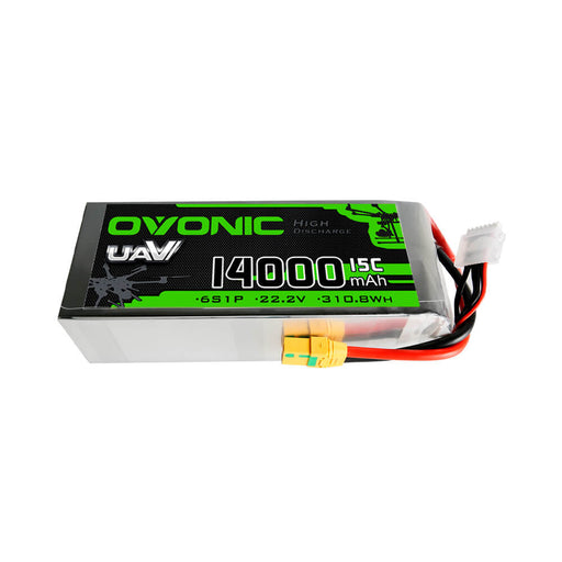 OVONIC 14000mAh 6S1P 22.2V 15C XT90-S Plug LiPo Battery for UAV agriculture drone