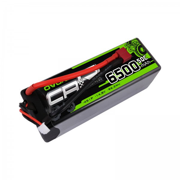 Ovonic 6500mAh 4S 14.8V 50C Hardcase LiPo Battery Pack with T Plug for 1/8 RC Buggy