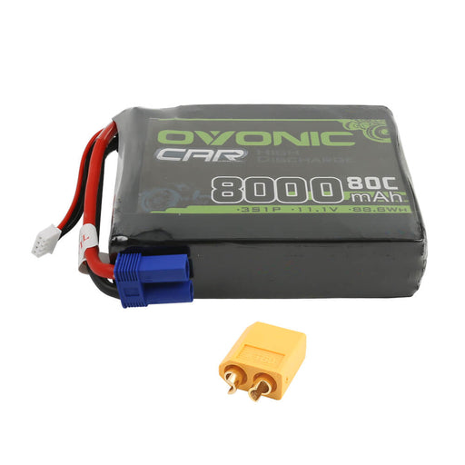 Ovonic 80C 8000mAh 3S 11.1V LiPo Battery for Drone - EC5 & XT60 Plug