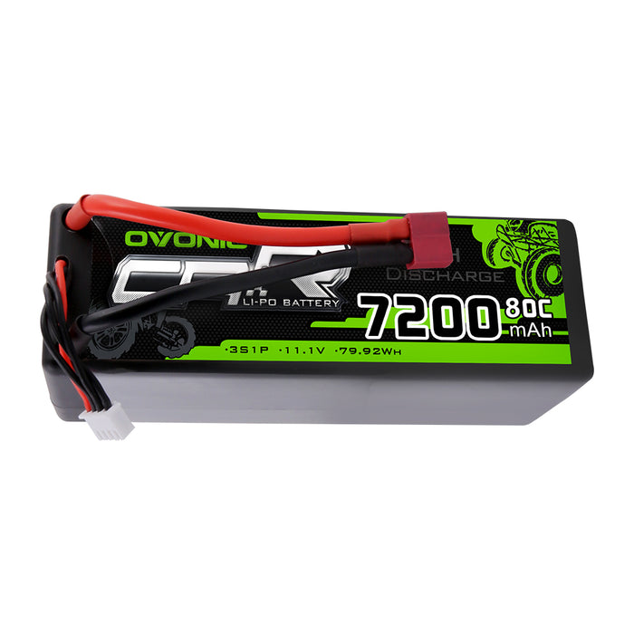 OVONIC 7200mAh  3S 11.1V 80C Lipo Batteries Pack with Deans Plug for RC Car Truck