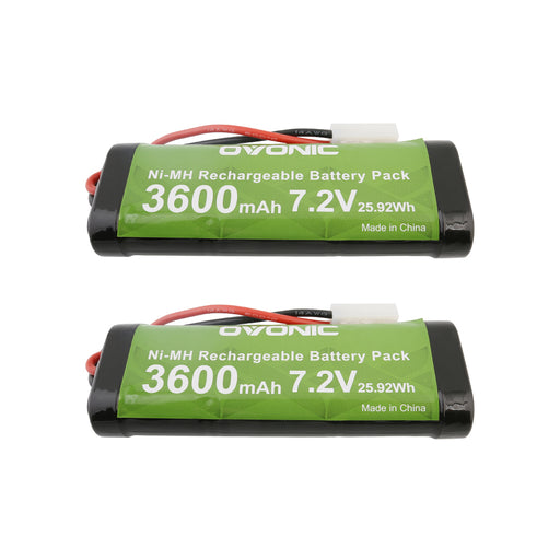 Ovonic 3600mAh 7.2V 6S1P NIMH battery with Tamiya plug for 1/10 RC car[2packs] - Ovonicshop