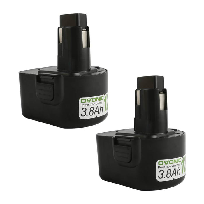 Ovonic 3.8Ah 12V DW9072 DW953 DC9071 battery replacement for DeWalt DC/DW Series(2packs)