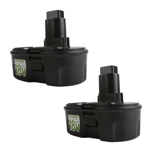 Ovonic 3.8Ah 18V DC9098 DE9039 DC9096 battery replacement for DeWalt(2packs)