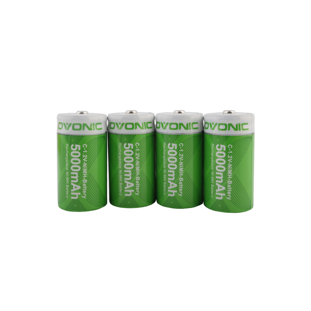 Ovonic 5000mAh NIMH-C battery for digital cameras, electric toothbrushes and flashlights[4packs]