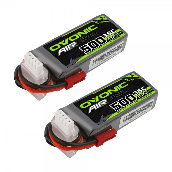 Ovonic 500mah 3S 11.1V 35C Lipo Battery Pack with JST Plug for Airplane&Heli(2pcs)