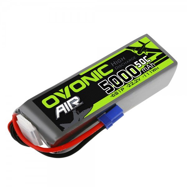 Ovonic 5000mah 6S 22.2V 50C Lipo Battery Pack with EC5 Plug for Airplane&Heli