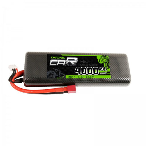 OVONIC 7.4V 2S 4000mAh Lipo Battery 50C Hardcase 8# with Deans Plug for HPI