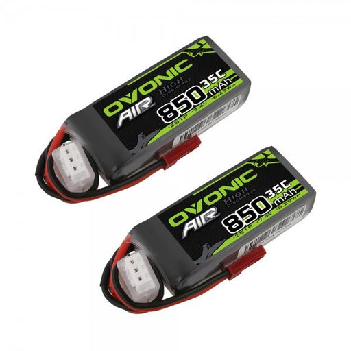 Ovonic 850mah 2S 7.4V 35C Lipo Battery Pack with JST Plug for Airplane&Heli(2pcs)