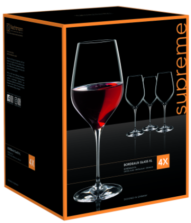 Set 4 Copas Vino Tinto Supreme Bordeaux