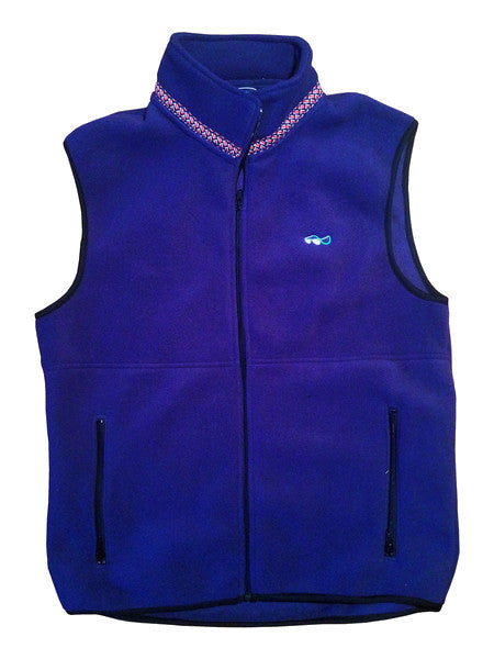 Lazyjack Press Marin County Fleece Vest (Navy)