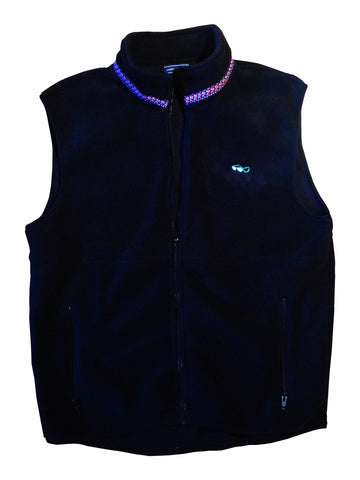 Lazyjack Press Marin County Fleece Vest (Black)