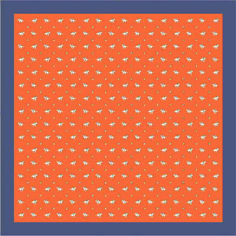 Riding Derby Silk Scarf (Orange)