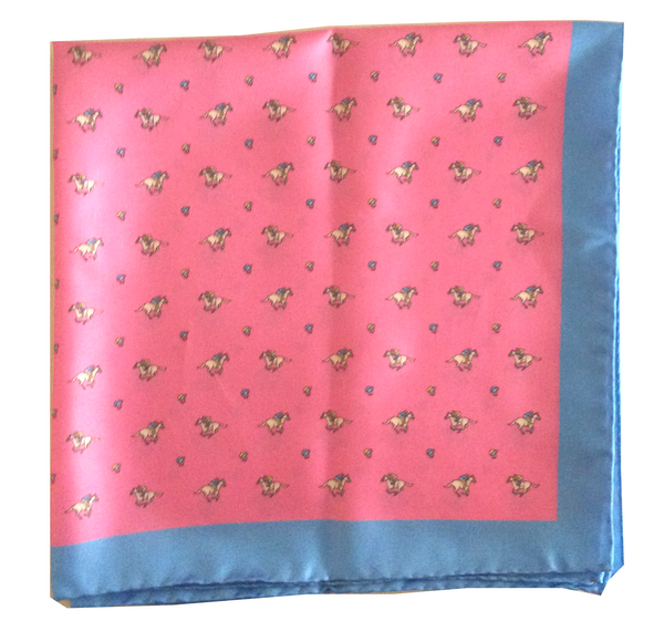 Riding Derby Silk Scarf (Pink)