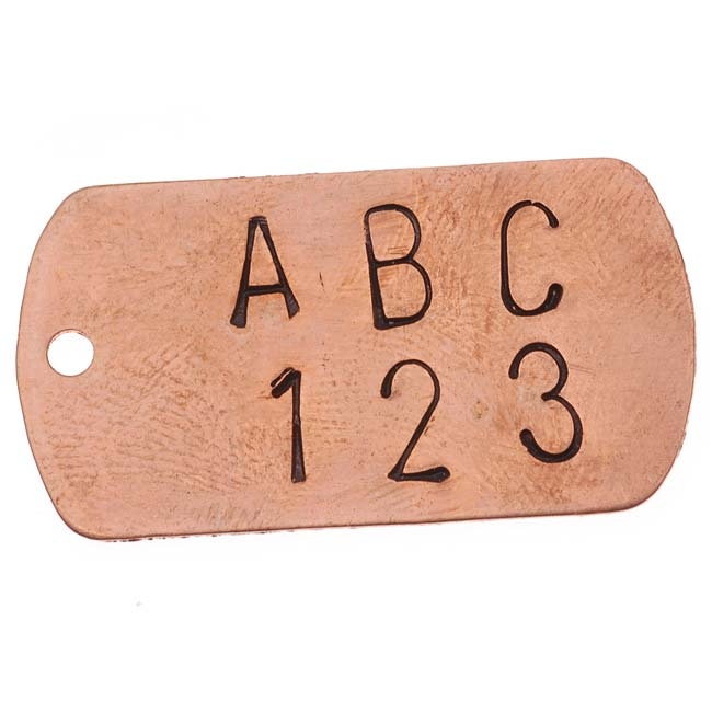 Final Sale - Beadsmith 36 Piece Letter & Number Punch Set For Stamping Metal 1/4 Inch 6mm (1 Set W/ Wood Case)