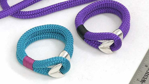 How to Make a Looped Climbing Rope Bracelet